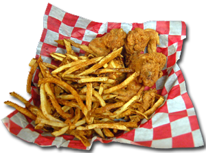 chicken wing dinner